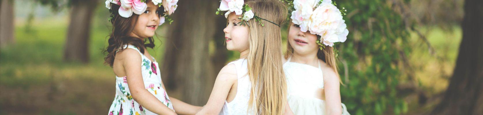Blumenmädchen, Blumenkind, Blumenkinder, Kinder auf der Hochzeit