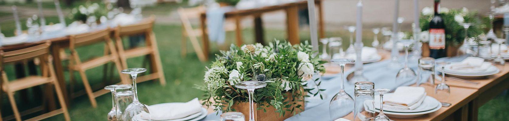 Tischdekoration Hochzeit, Hochzeitstisch