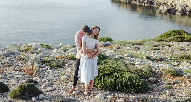 Fotoshooting war bei Sonnenuntergang auf Menorca