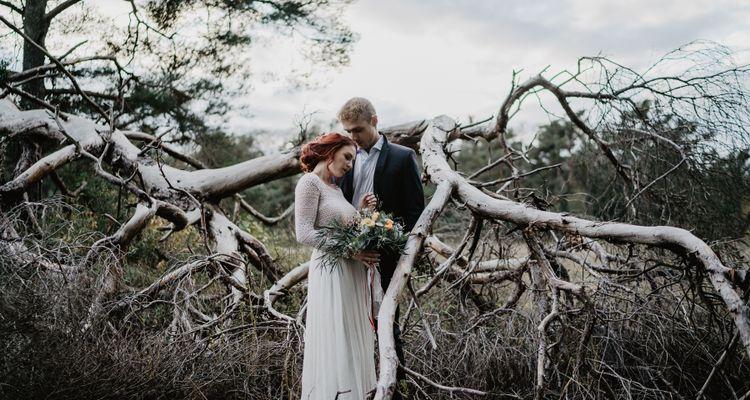 Brautpaarshooting auf der Düne - Styled Shooting