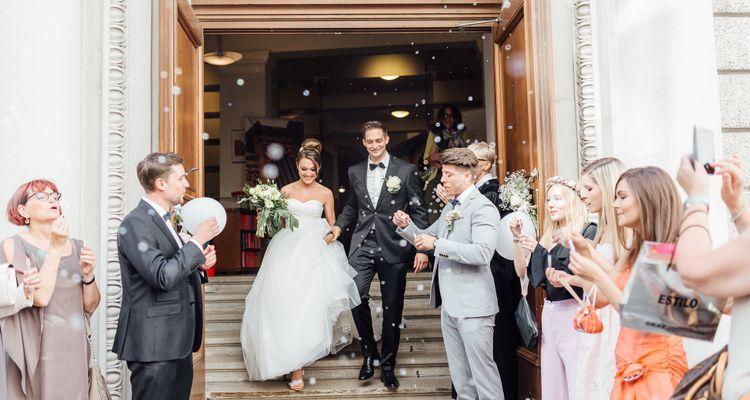 Sommerliche Hochzeit im noblen Wiener Innenstadtpalais Coburg