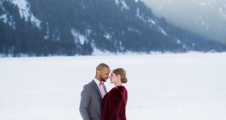 Winterliches After Wedding Shooting in den Bergen