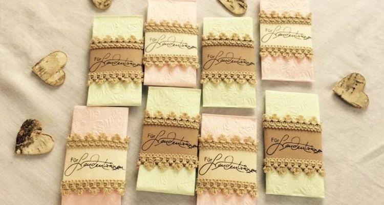 Freudentränen Taschentücher Vintage DIY