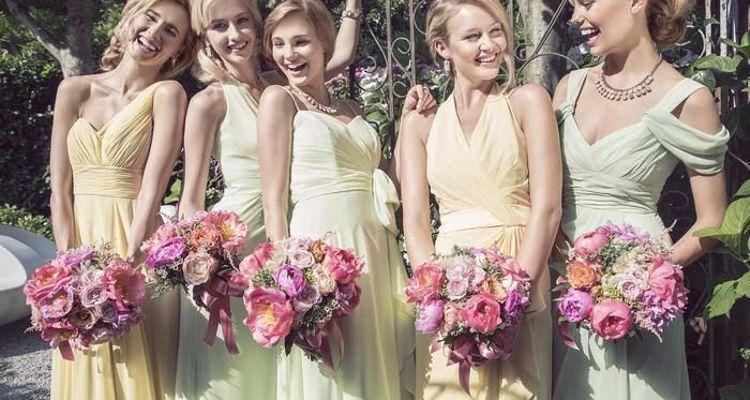 Brautjungfernkleider in Pastel