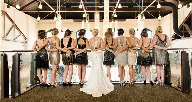 Brautjungfern Kleider 20er Jahre