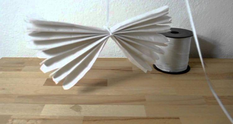 Seidenpapier Pompoms selber machen