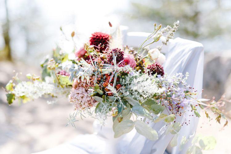 wunderschöner Brautstrauß im Vintage Stil