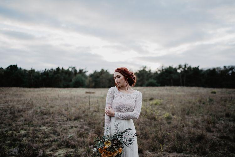Boho Braut auf der Düne