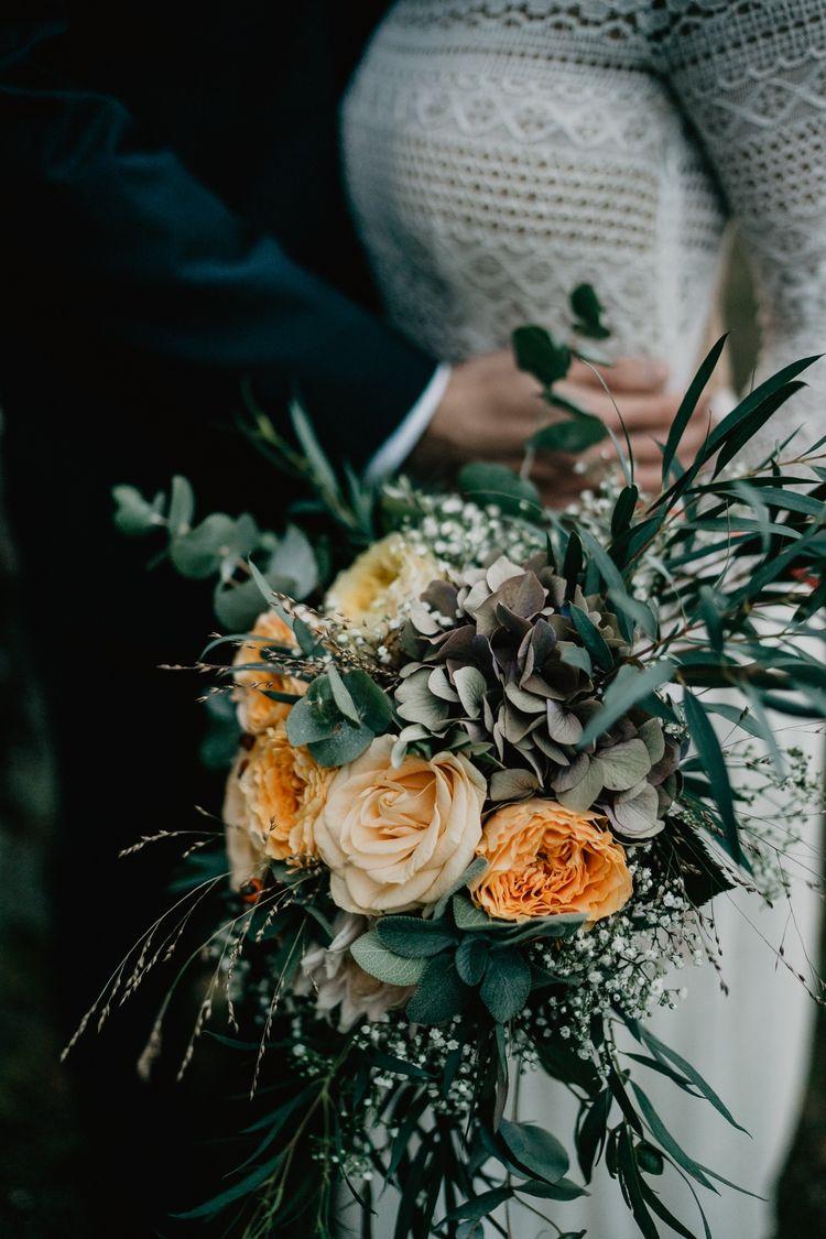 Brautstrauß mit Eucalyptus