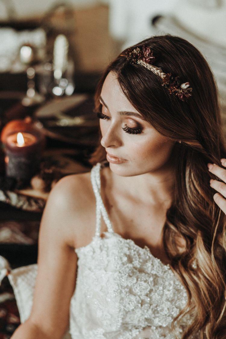 Bridal Make up, Flowercrown