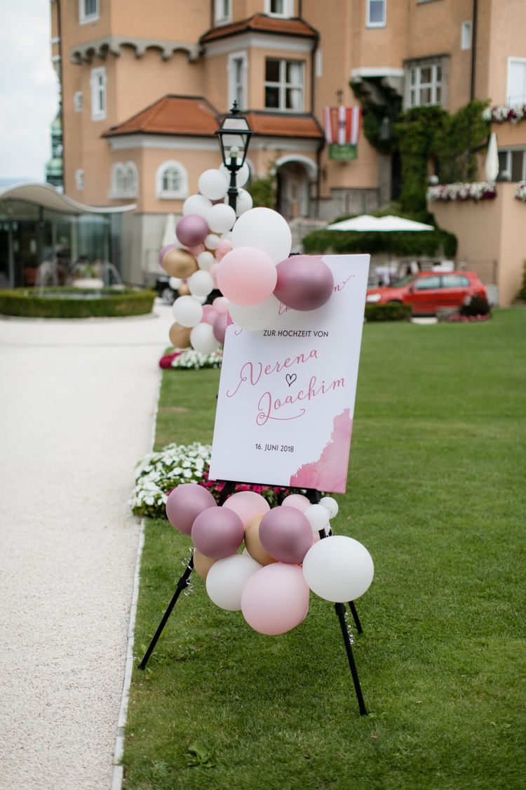 Willkommenschild Hochzeit