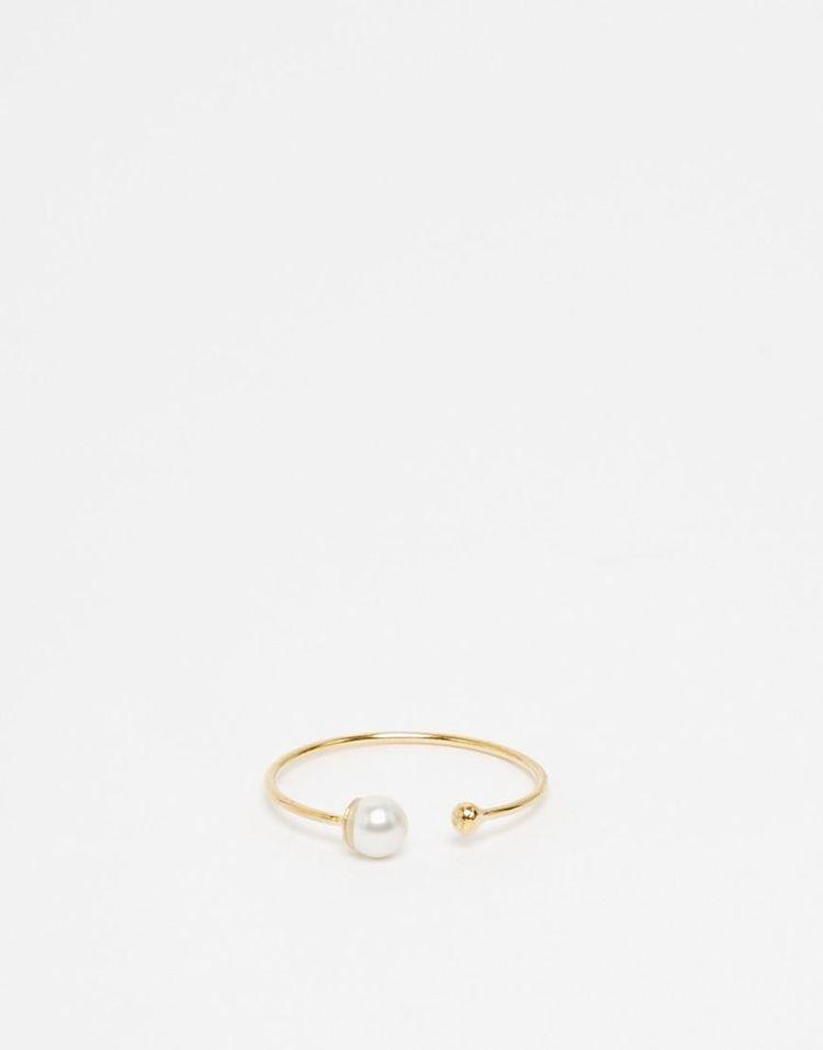 günstiges Brautoutfit: Asos Ring vergoldet