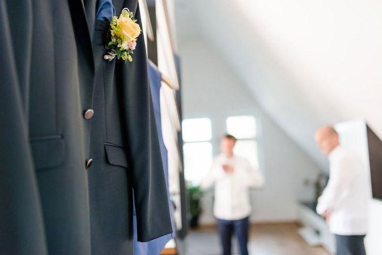 Ansteckblume Hochzeit Boutonnière