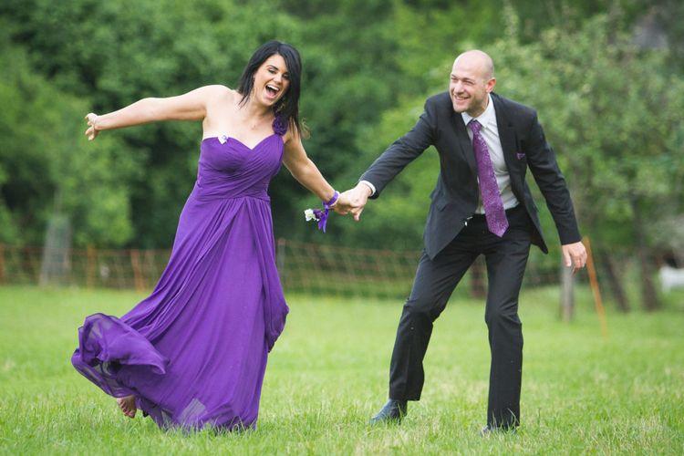 Spiele auf der Hochzeit mit Tanz